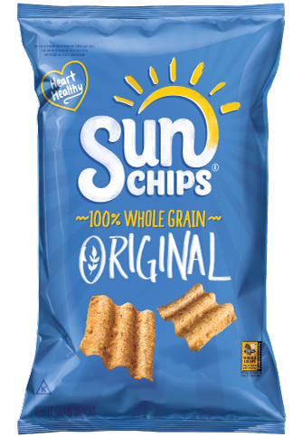 sunchips whole grain chips in blue bag