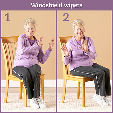 Cardio Exercise: Windshield Wipers