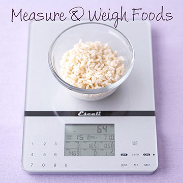 Measure and Weigh Foods