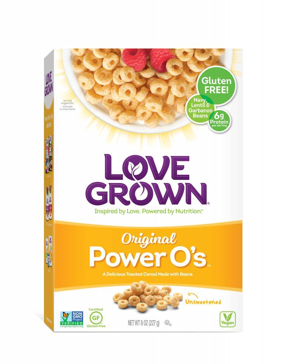 Love Grown Original Power O's box of cereal