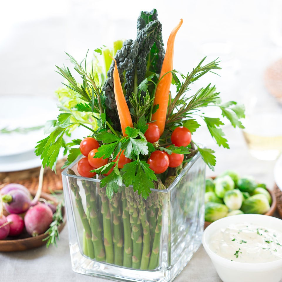 vegetable bouquet in vase