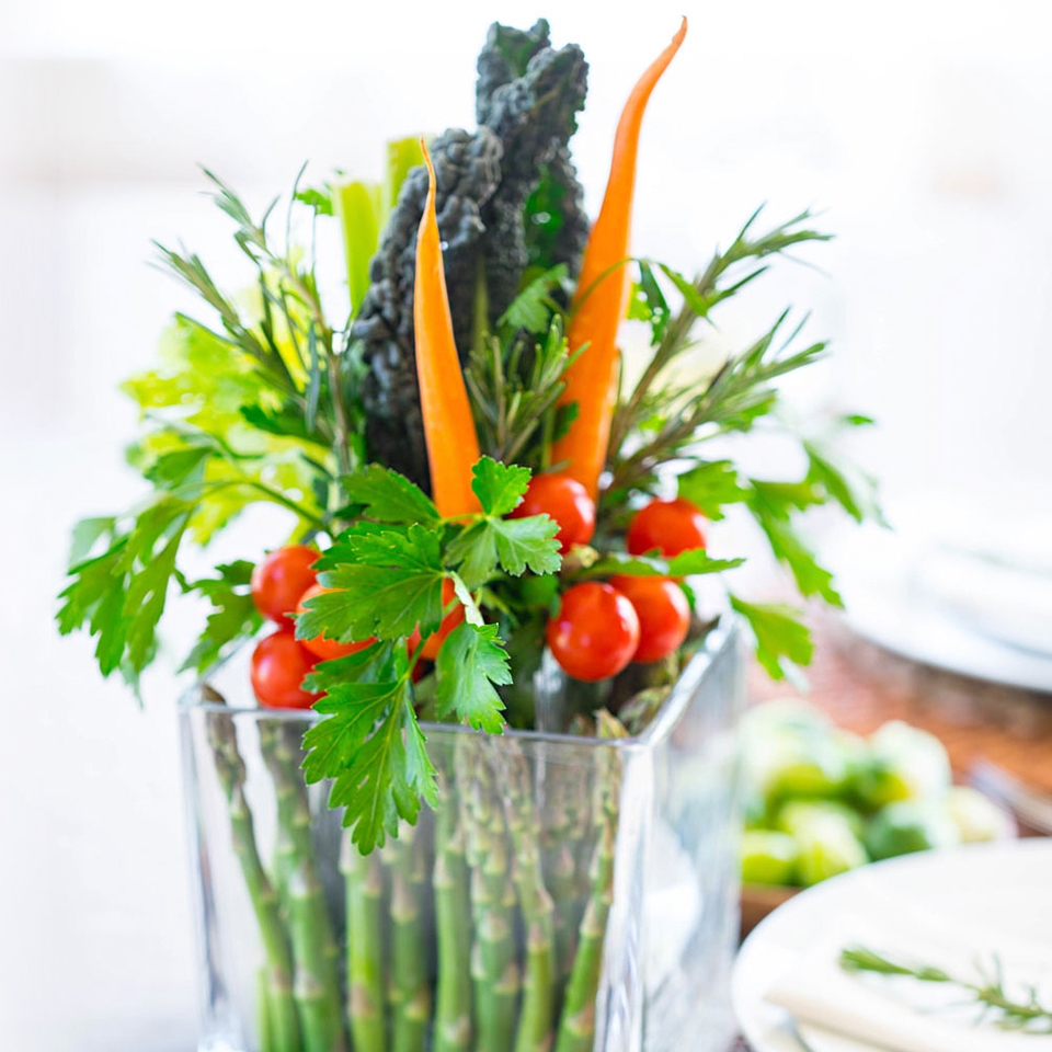 edible vegetable table arrangement