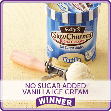 No Sugar Added Vanilla Ice Cream Winner