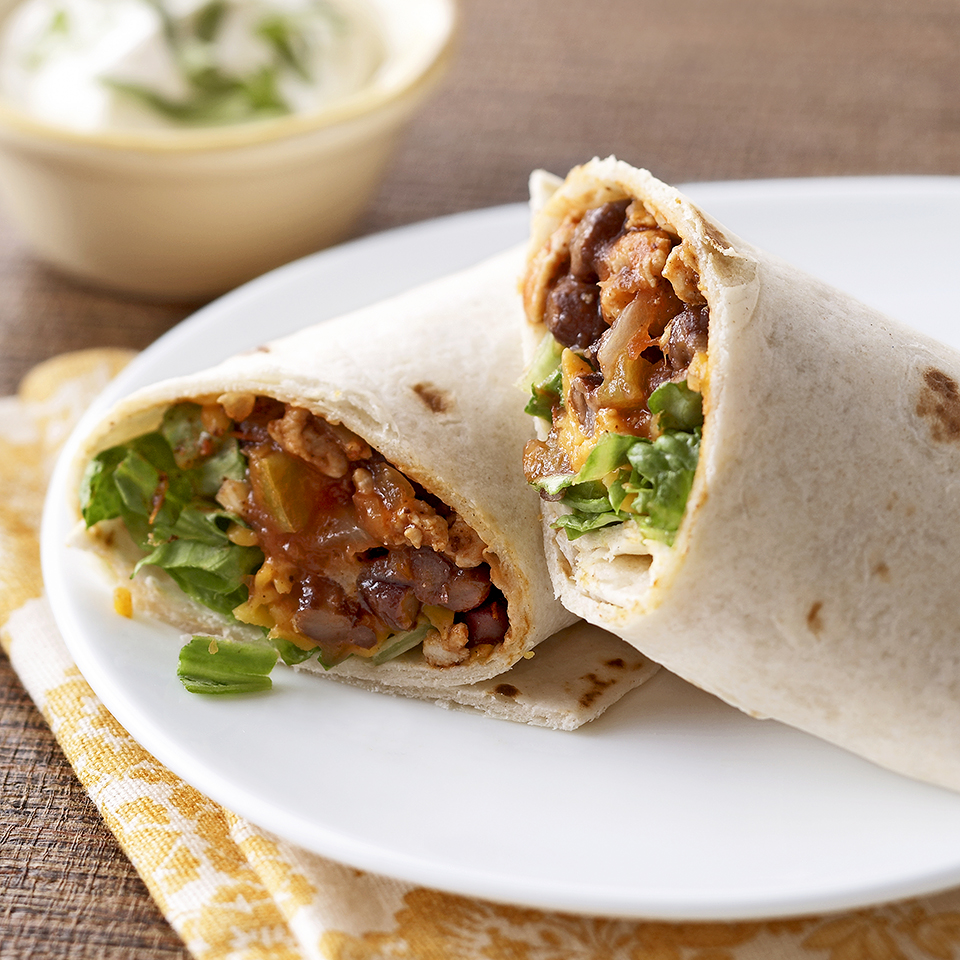 Turkey & Bean Burritos