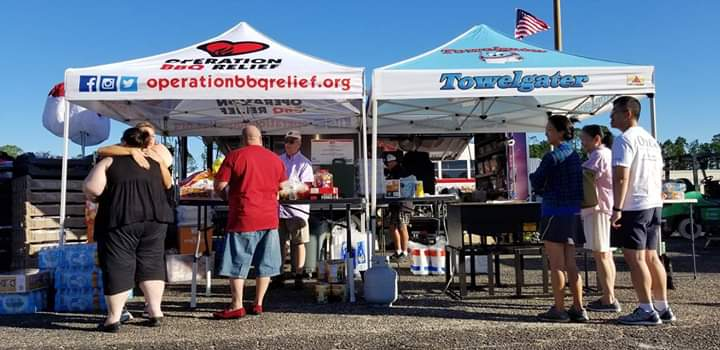 Operation BBQ Relief set up a station during Hurricane Michael efforts in Panama City, Florida.