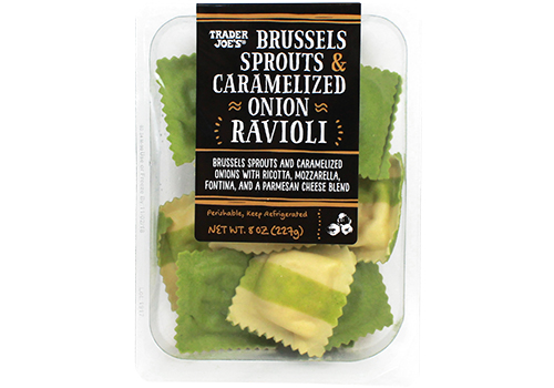 Trader Joes Brussels Sprouts & Carmamelized Onion Ravioli