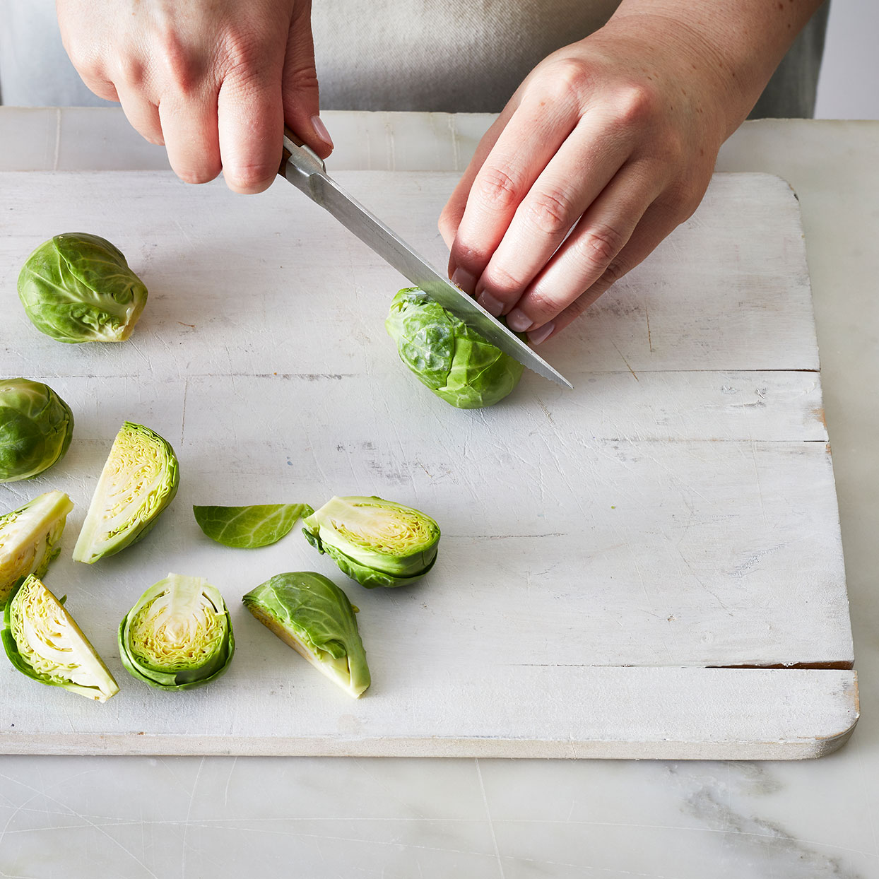 Cutting-Brussels-sprouts