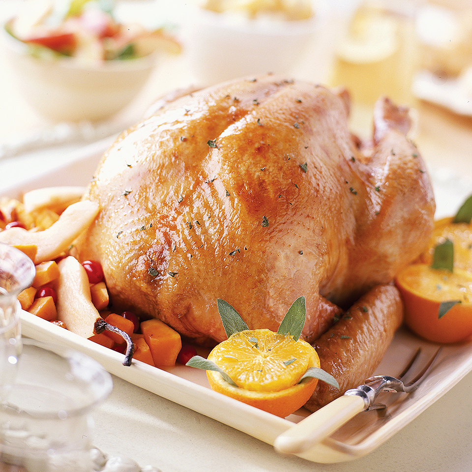 Roast Herbed Turkey with 4-Ingredient Caribbean Stuffing