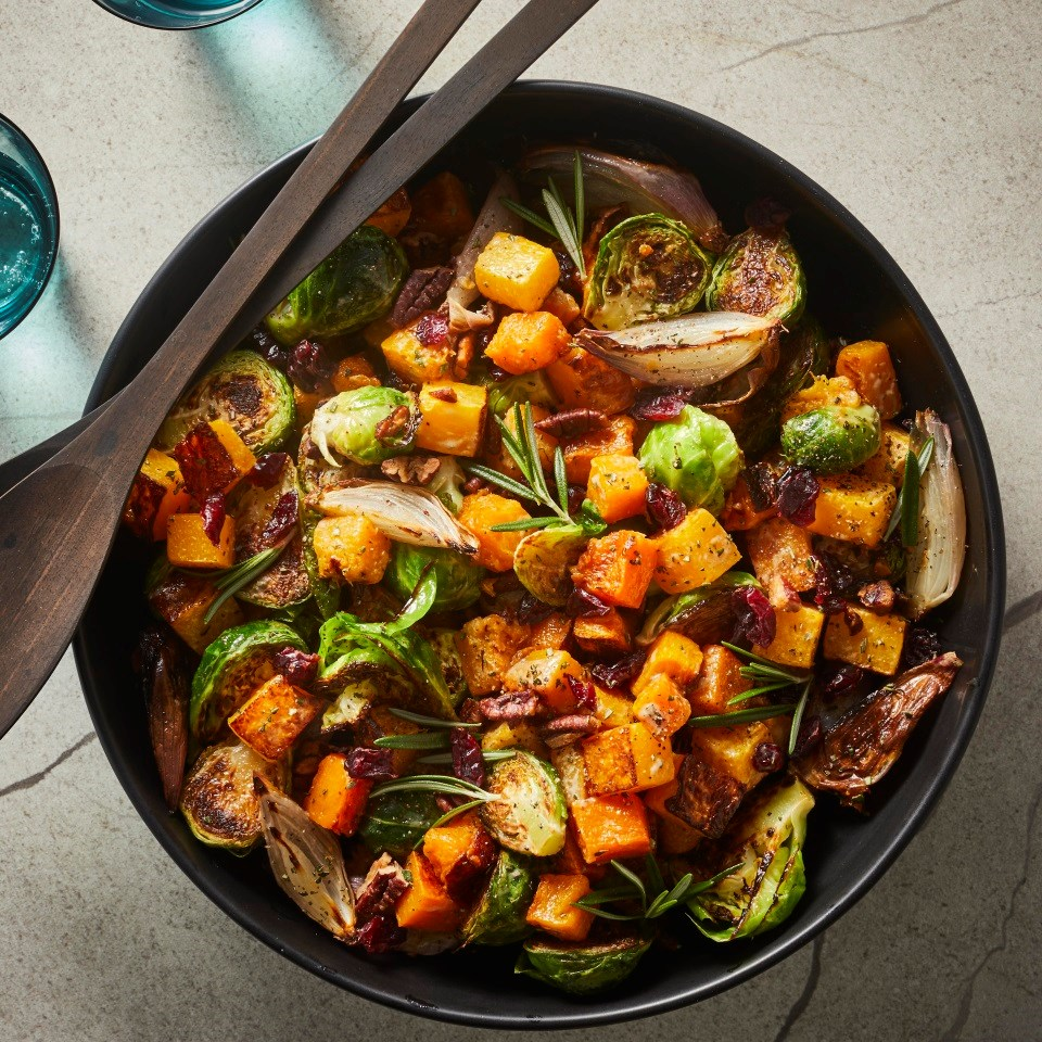 Roasted Brussels Sprout & Butternut Squash Salad