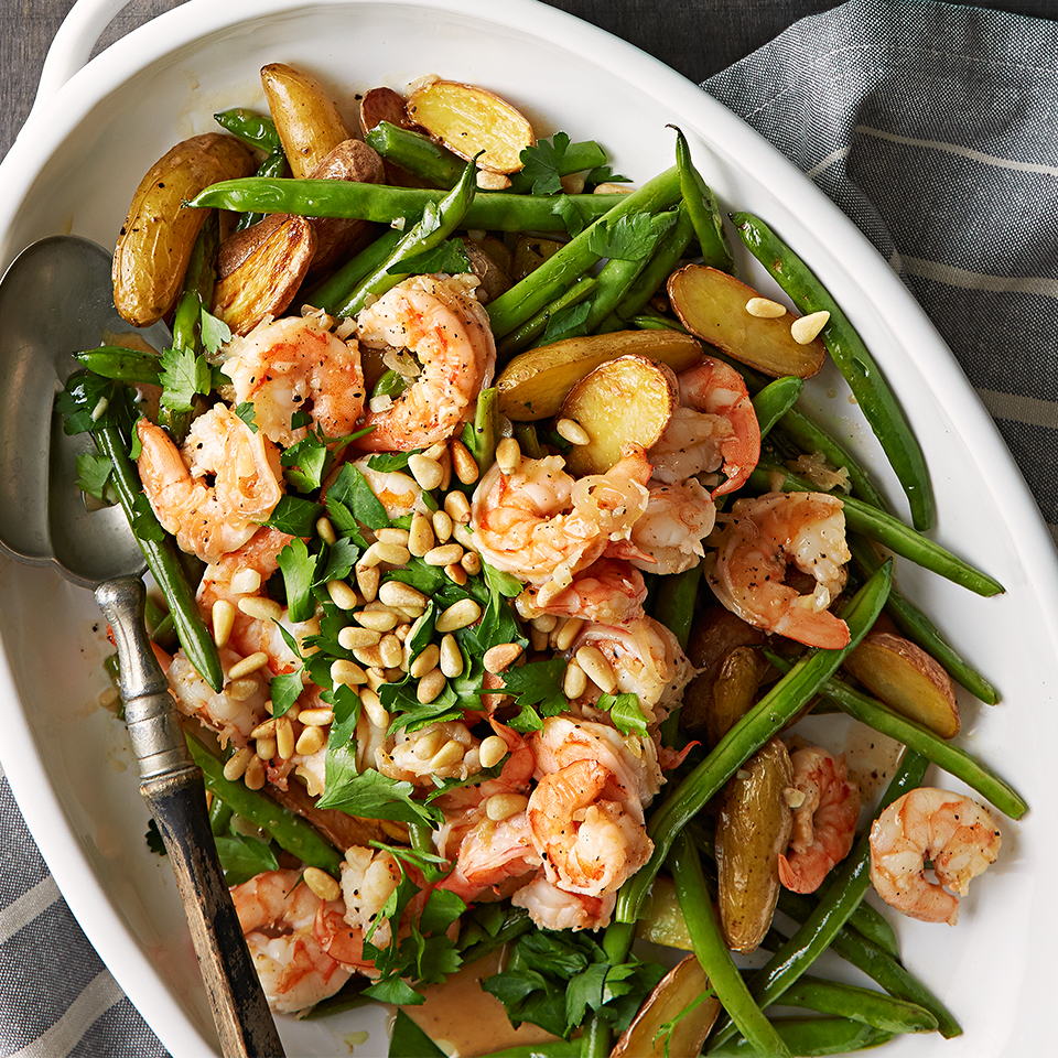 Peppered Shrimp & Green Bean Salad