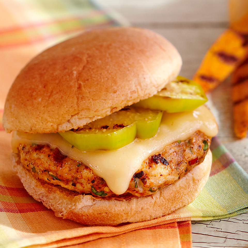 Turkey Tomatillo Burgers