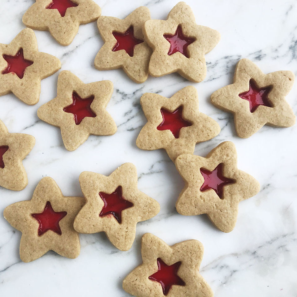stained glass sugar star cookies