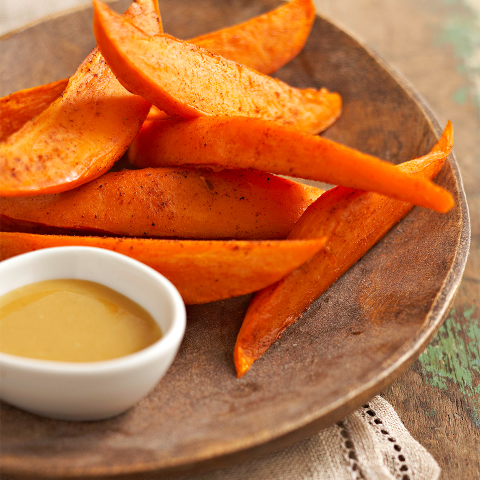 Sweet Potato Wedges with Honey Mustard Dipping Sauce