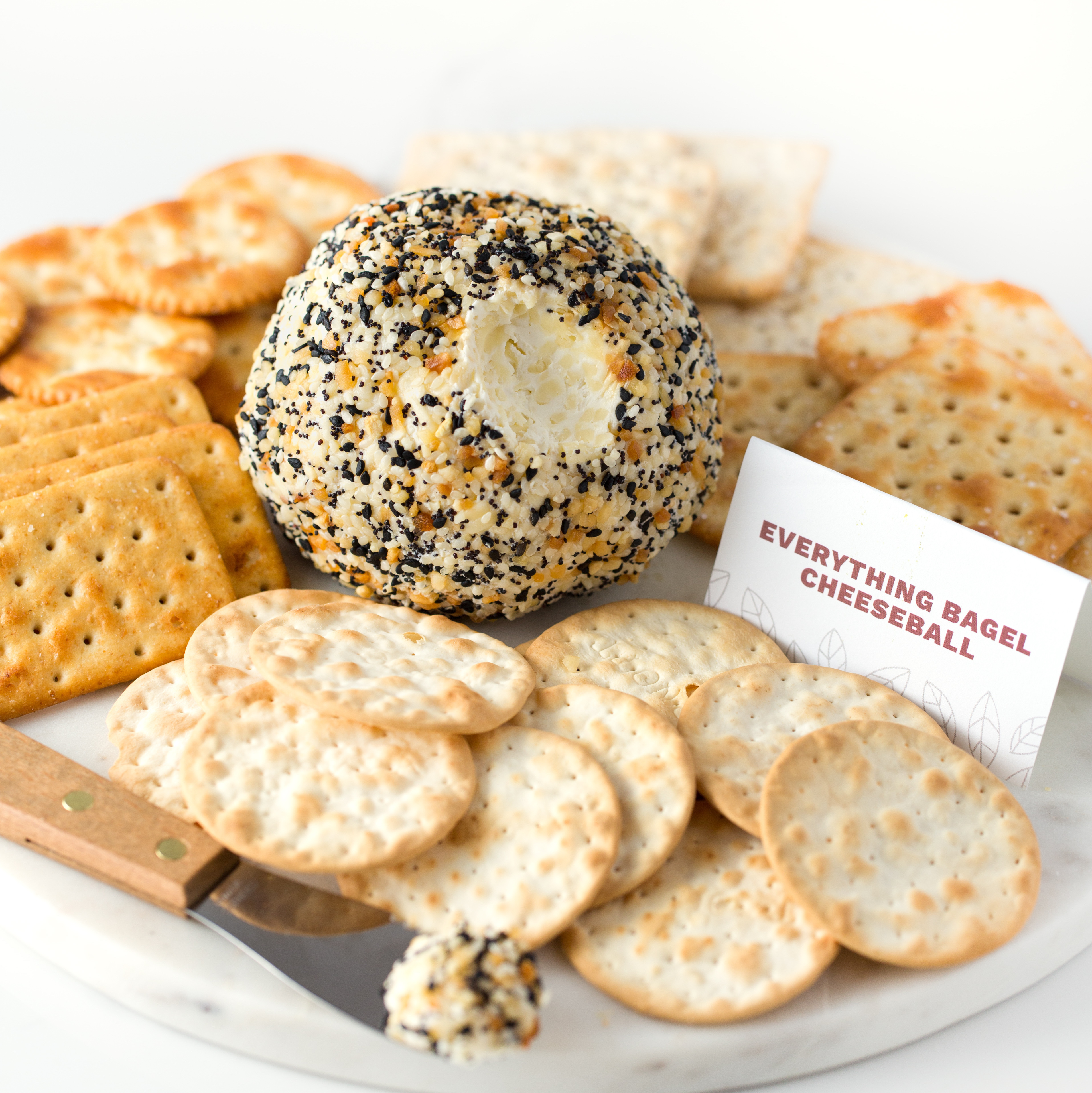 everything cheeseball appetizer