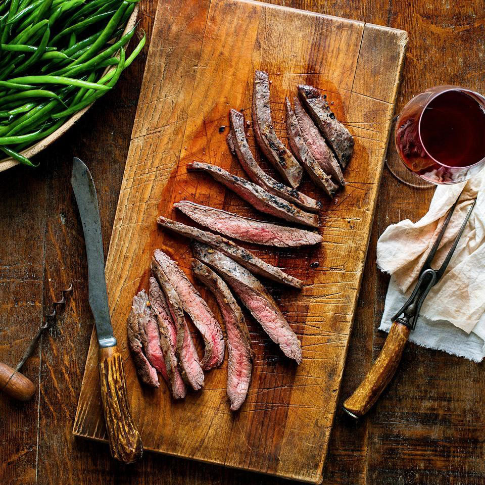miso marinated flank steak