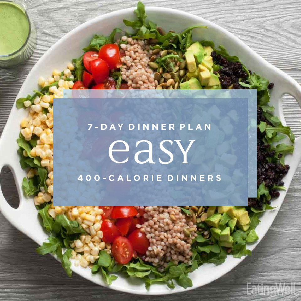 A Week of Easy 400-Calorie Dinners