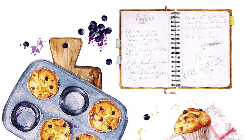 family cookbook drawing