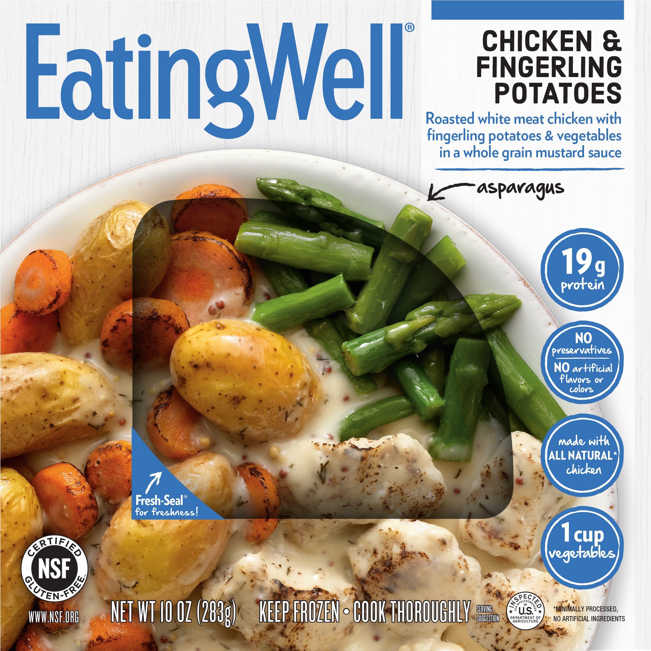eatingwell frozen meal chicken and fingerlings