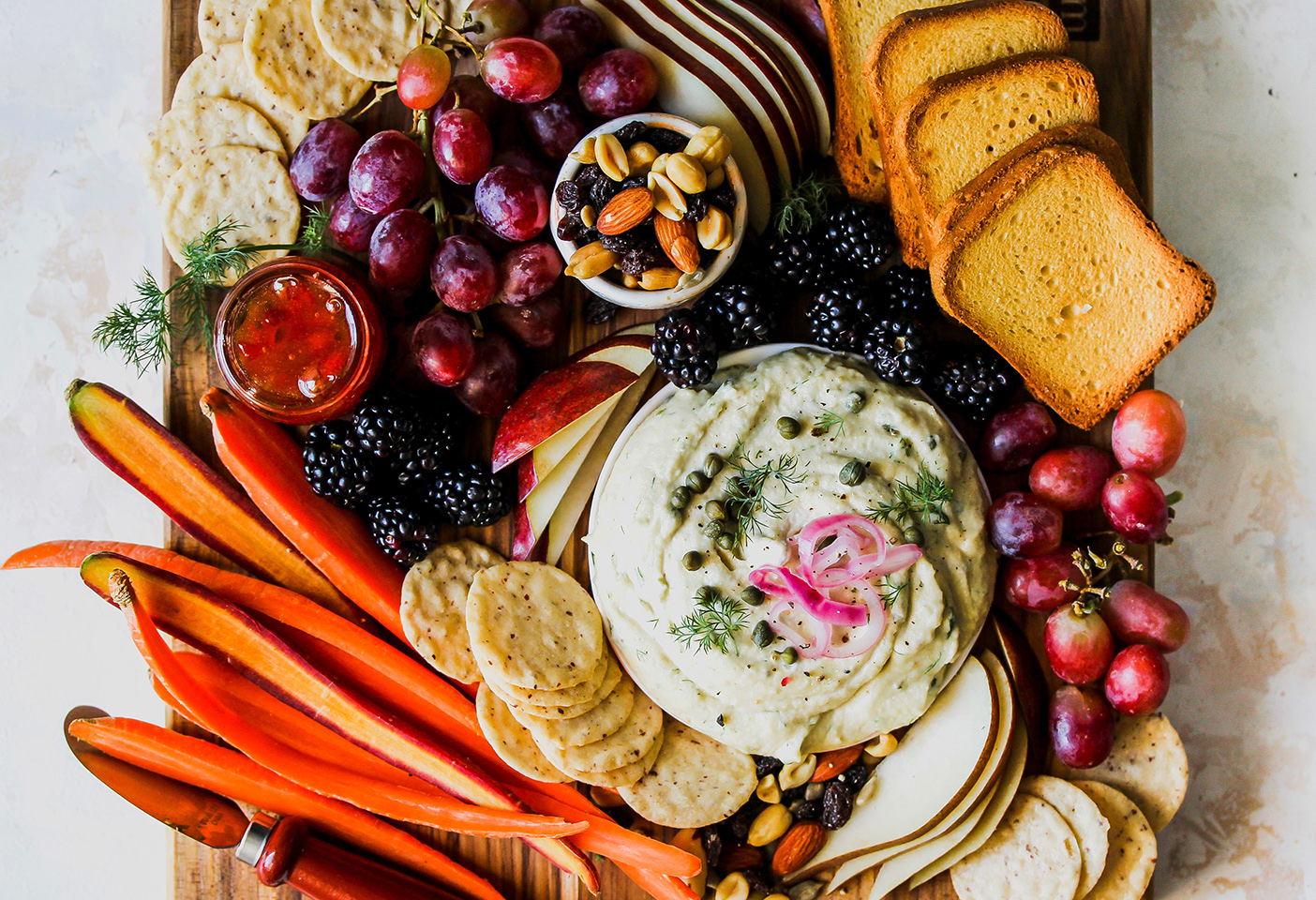 vegan party appetizer board
