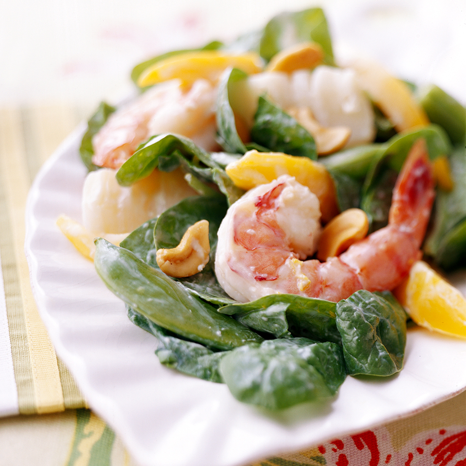 Seafood Salad with Creamy Ginger Dressing