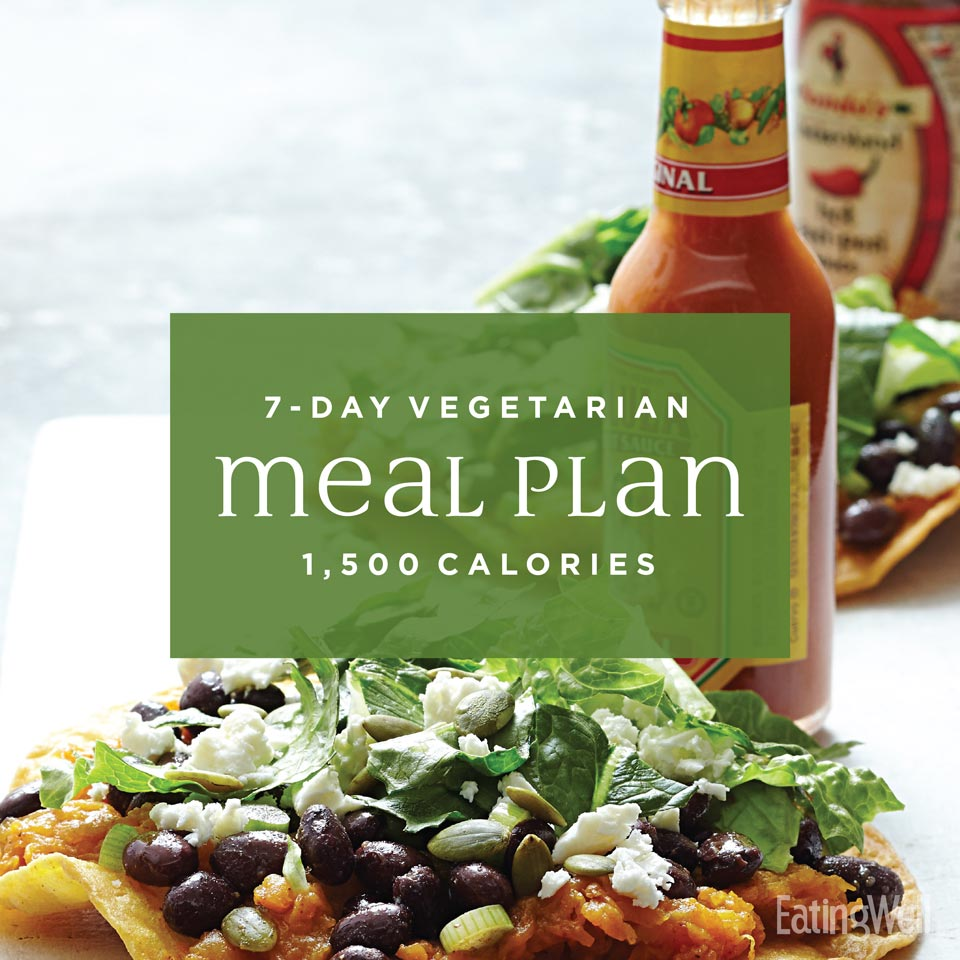7-Day Vegetarian Meal Plan: 1,500 Calories
