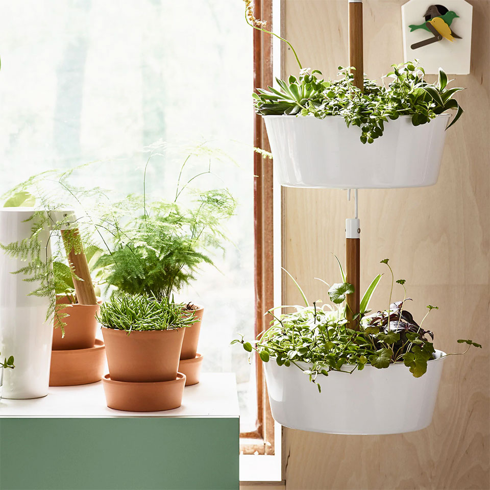 ikea hanging planters