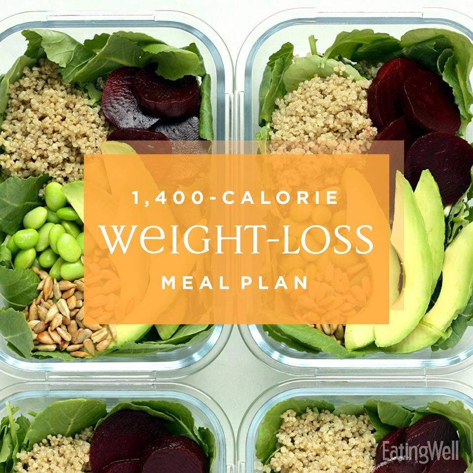 1 400 Calorie Meal Plan To Lose Weight Eatingwell