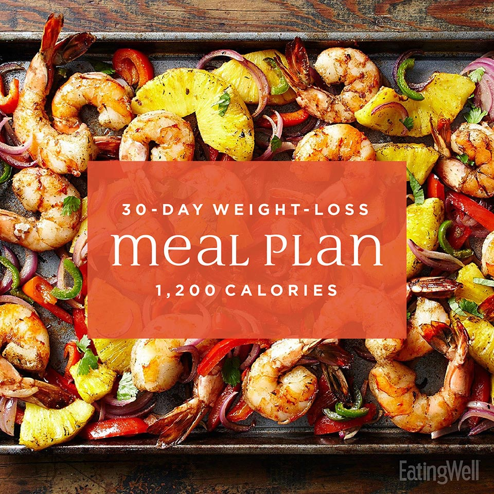 Simple 30 Day Weight Loss Meal Plan 1 200 Calories Eatingwell