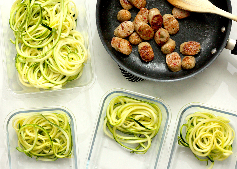 ultra easy prep zoodles meat
