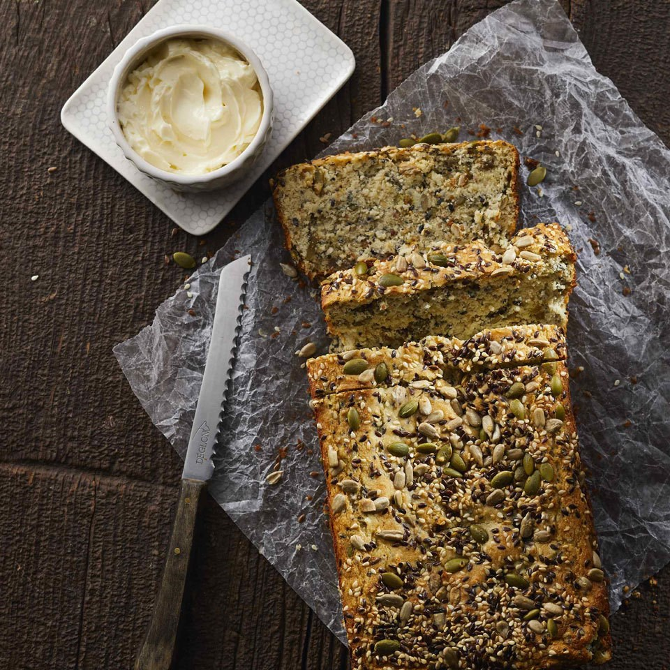 Low-Carb Seeded Quick Bread