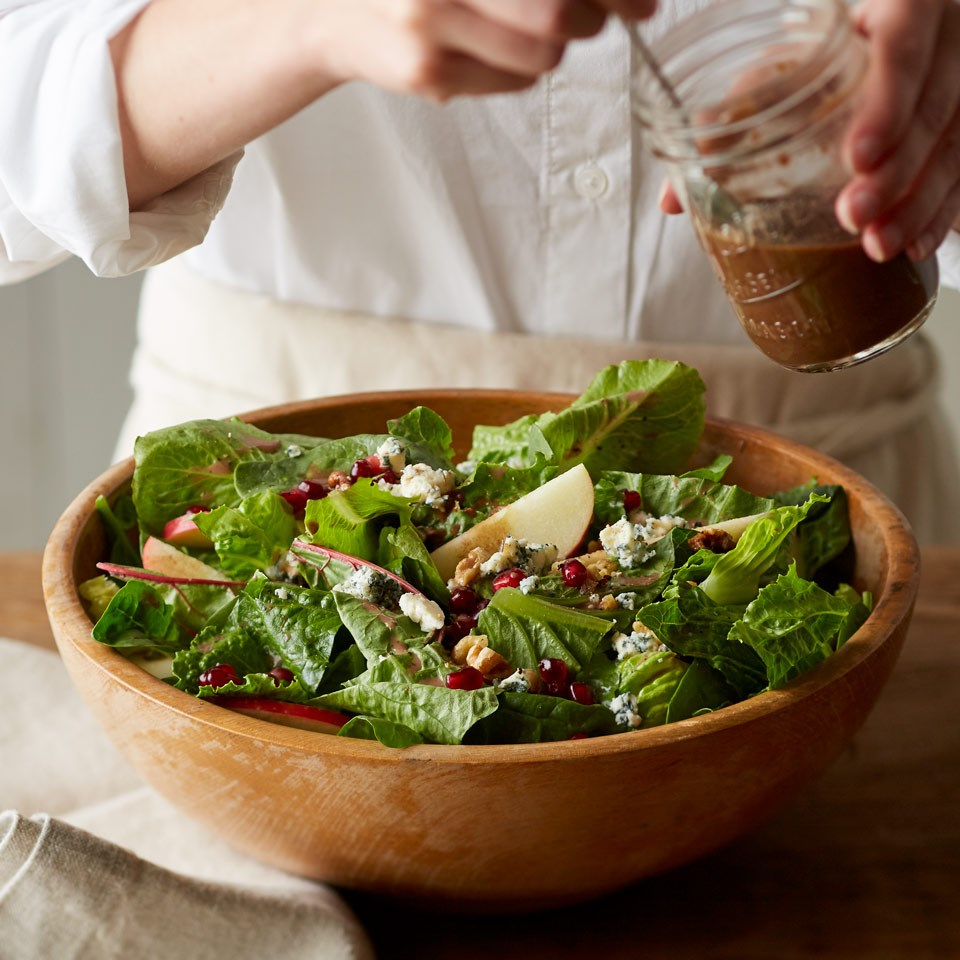 Winter Salad with Balsamic Berry Vinaigrette