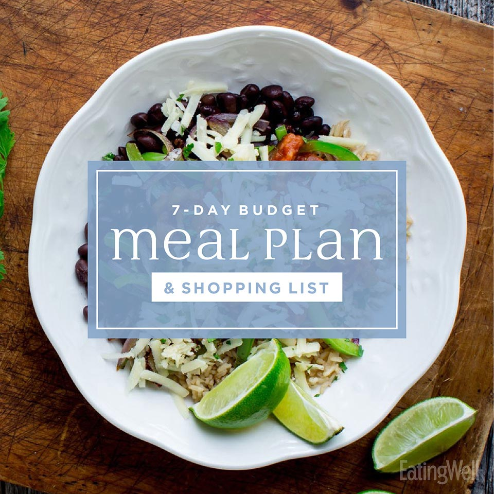7-Day Budget Meal Plan & Shopping List