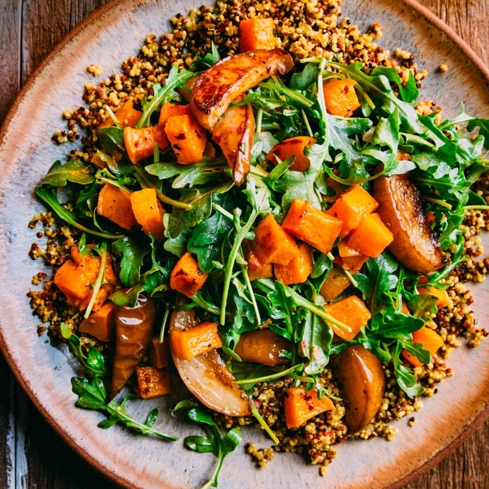 Roasted Butternut Squash and Pear Quinoa Salad