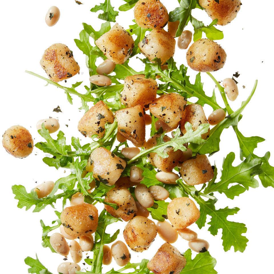 gnocchi with arugula and white beans