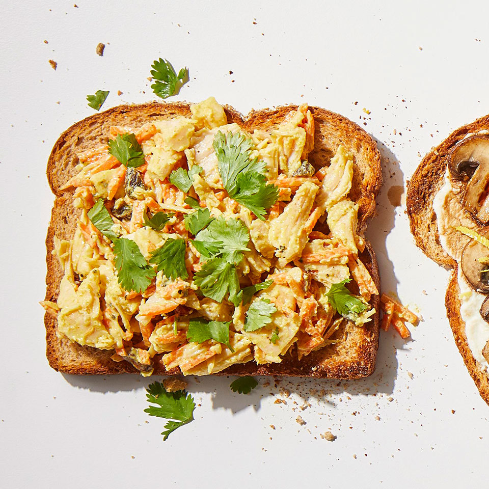 curried chicken salad toast