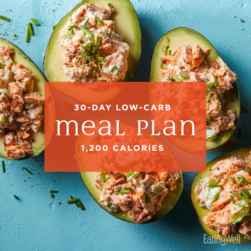 30 Day Low Carb Meal Plan 1 200 Calories Eatingwell