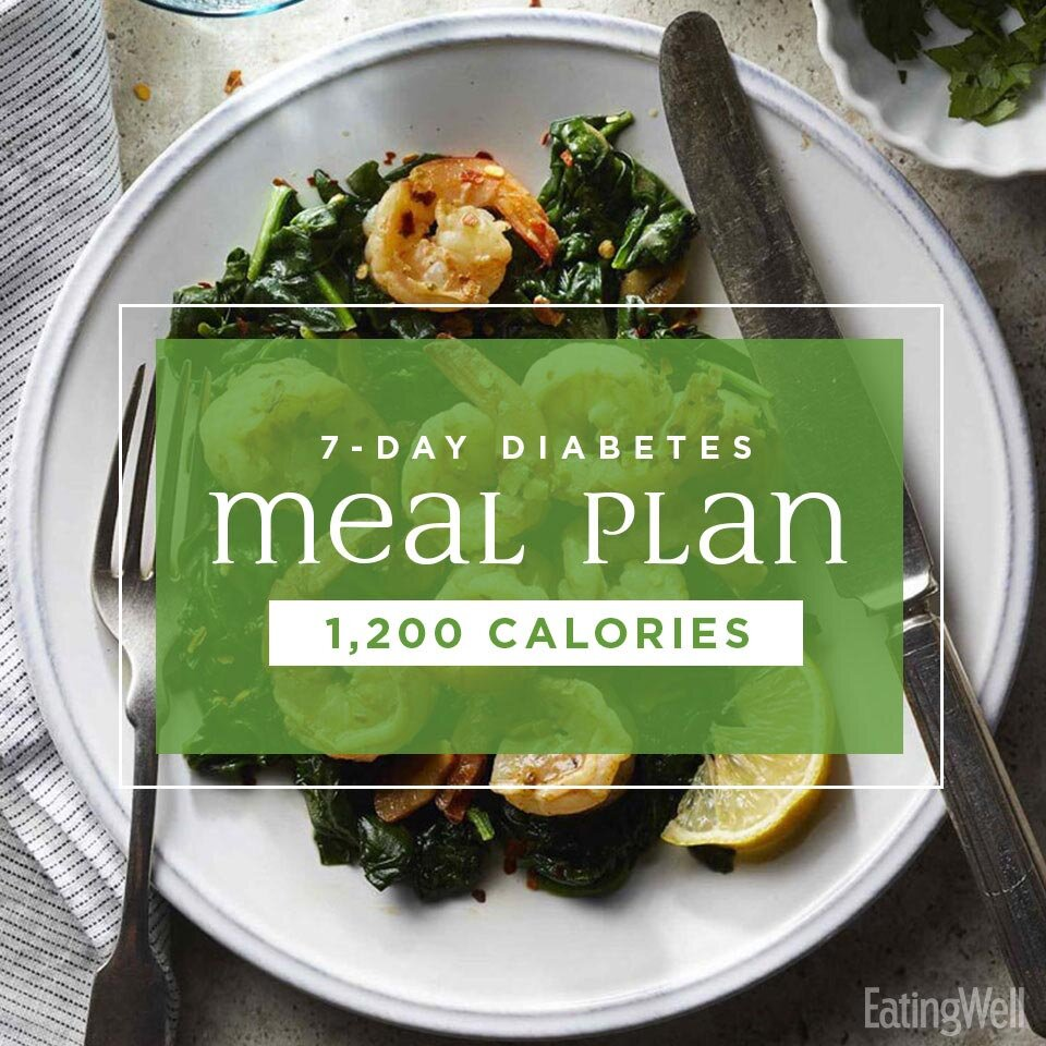 8 Day Diabetes Meal Plan 8,8 Calories   EatingWell