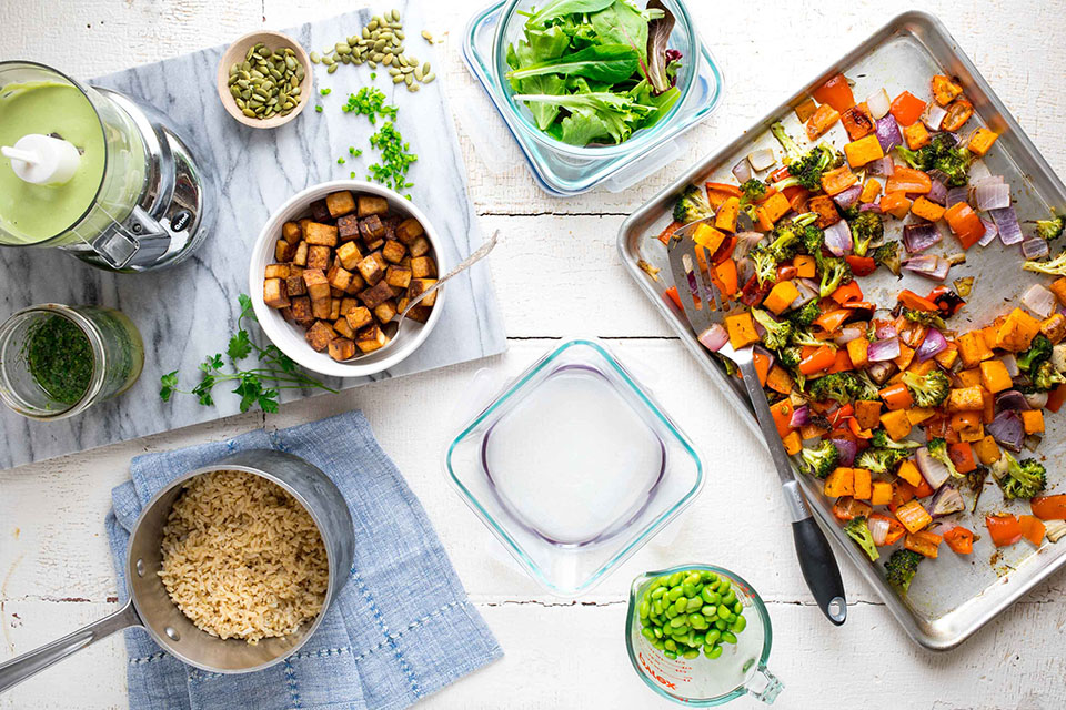 How to Meal Prep for a Week of Vegan Lunches