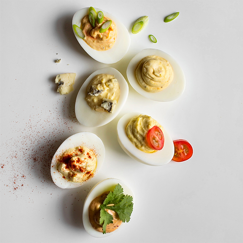 various deviled eggs