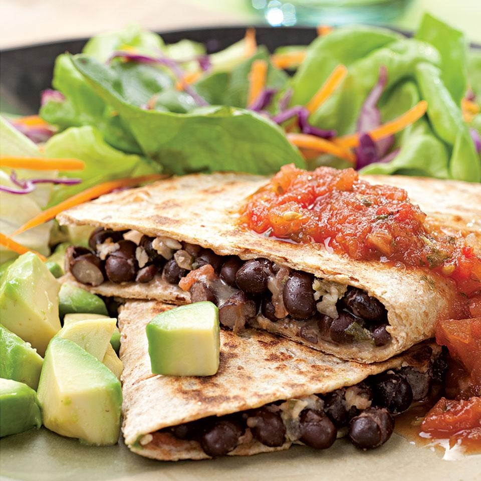 Black Bean Quesadillas/strong/abr• 6 whole-grain tortilla chips/p