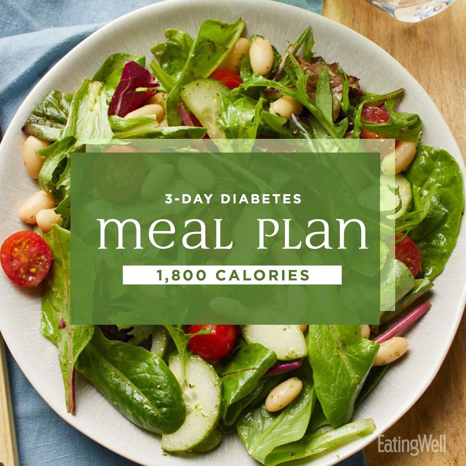 3-Day Diabetes Meal Plan: 1,800 Calories