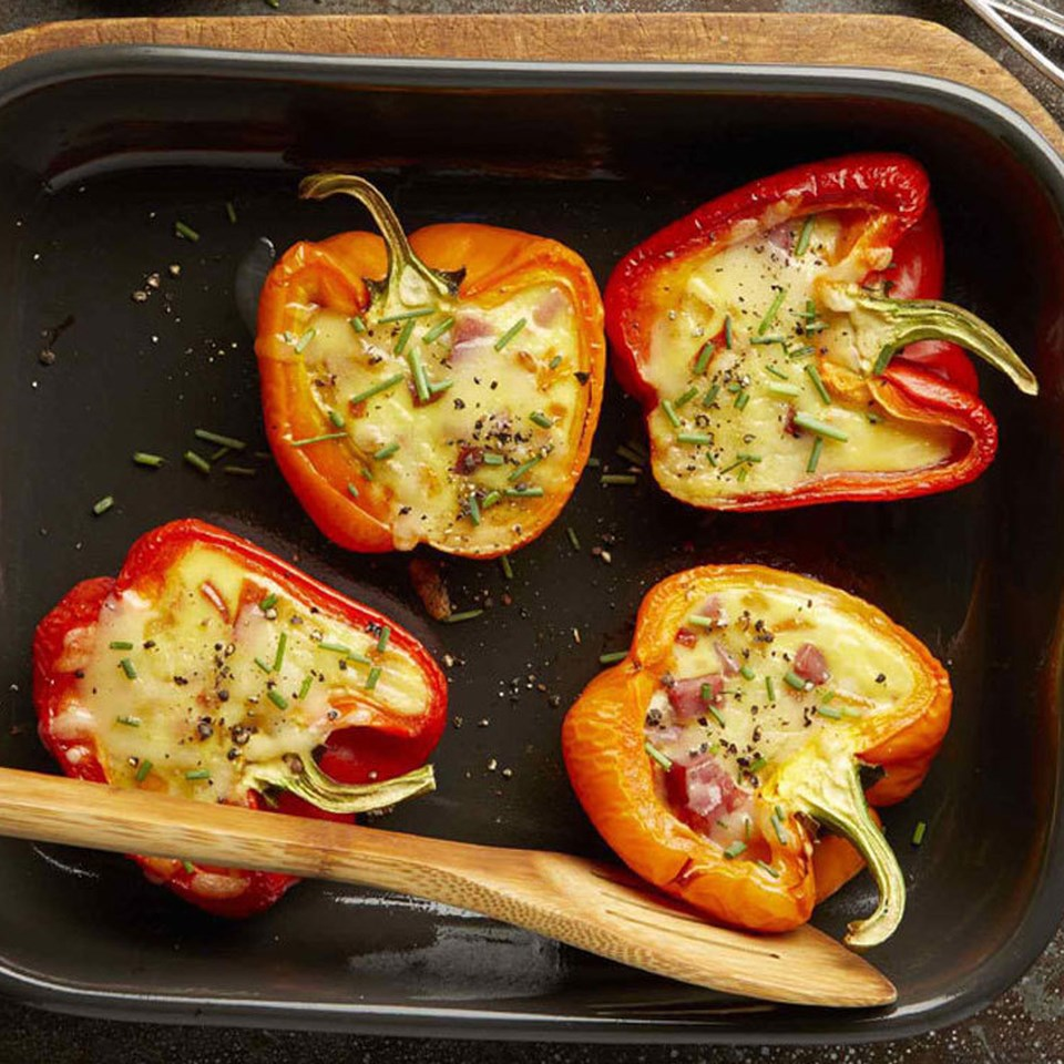 Cheesy Egg-Stuffed Peppers