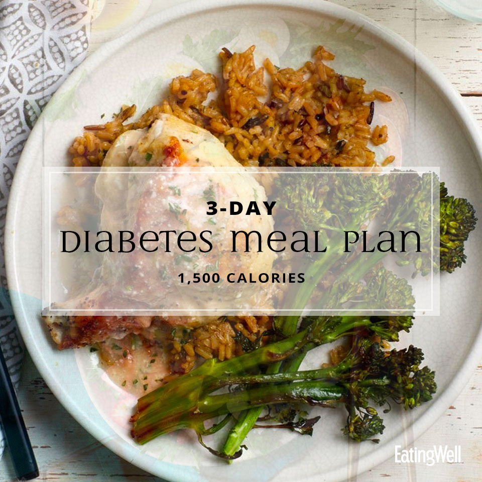 3-Day Diabetes Meal Plan: 1,500 Calories