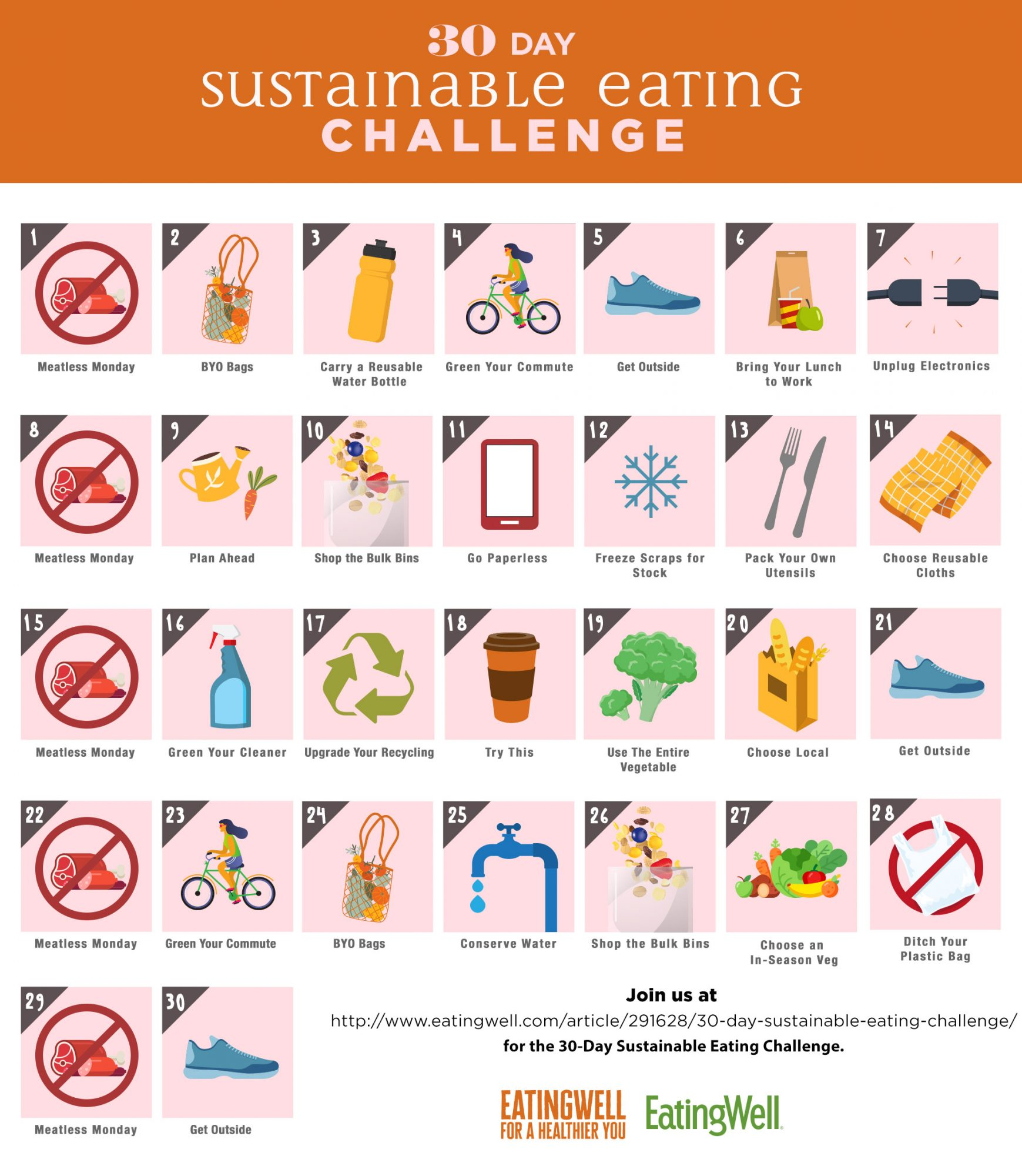 30-Day Sustainable Eating Challenge Calendar