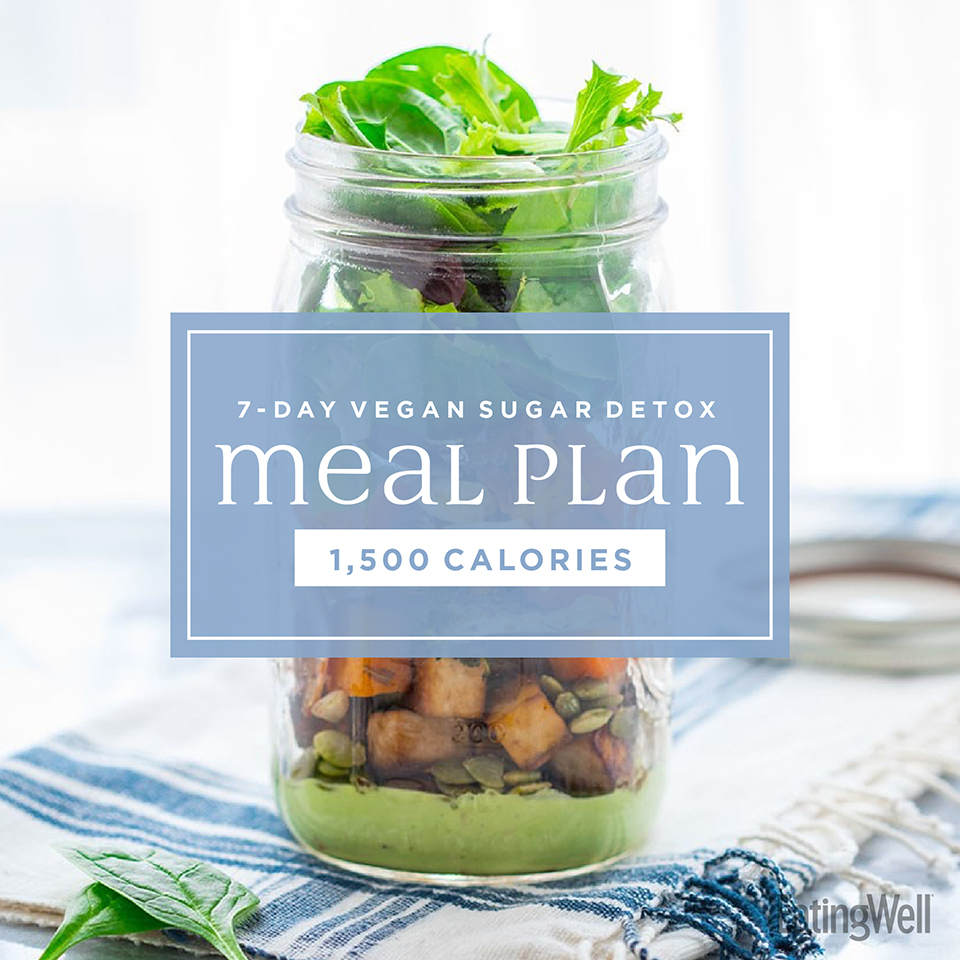 7-Day Vegan Sugar-Detox Meal Plan: 1,500 Calories
