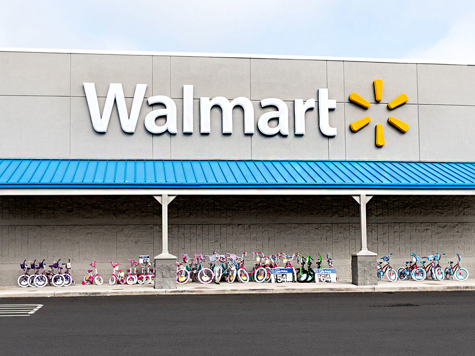 walmart storefront with childrens bicycles