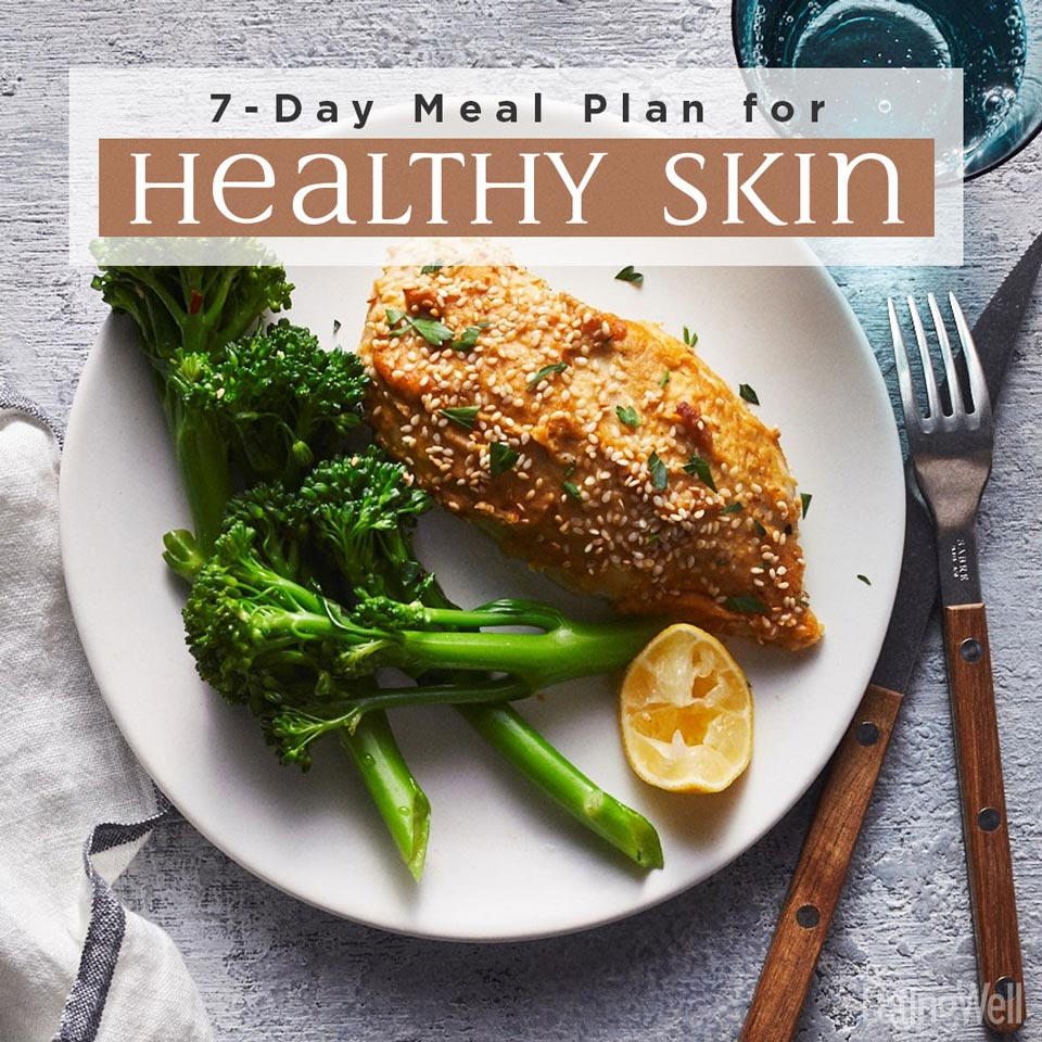7-day meal plan for healthy skin