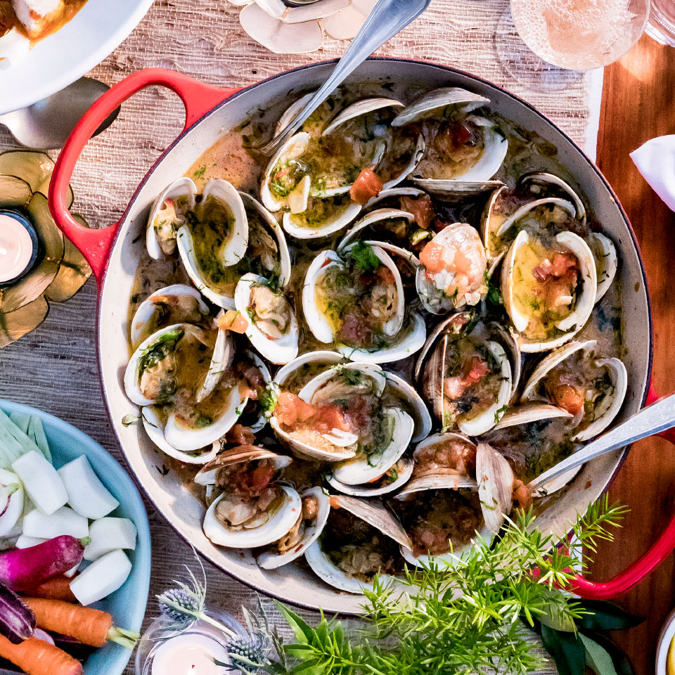 Steamed Clams Casino-Style