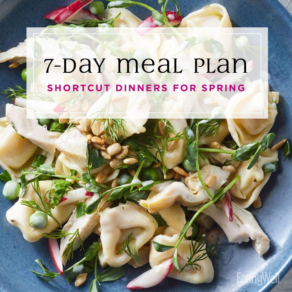 Spring Dinner Shortcuts, tortellini with peas and radishes