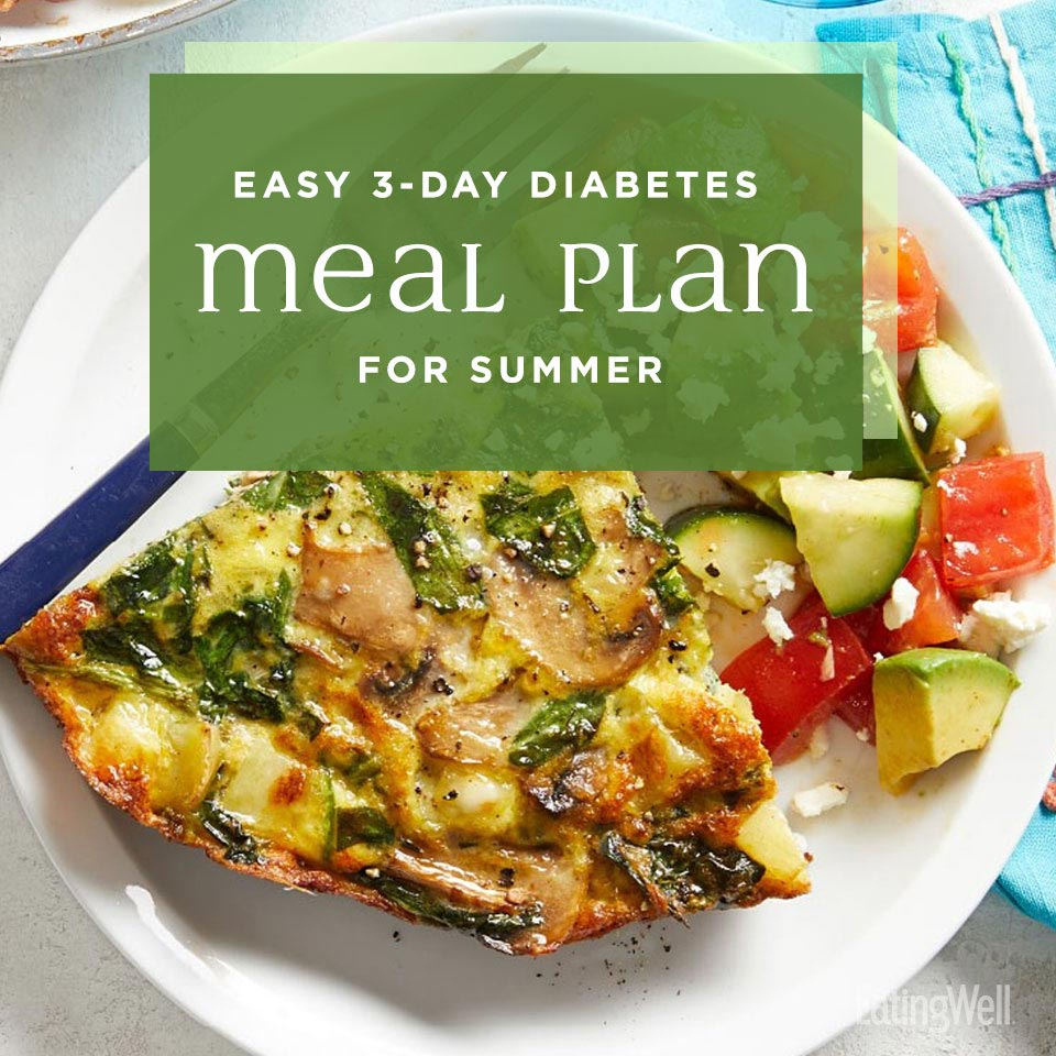 Diabetes Meal Plan for Summer, Spinach-Mushroom Frittata with Avocado Salad
